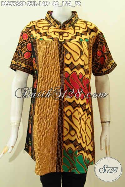 Model Baju Batik Wanita Untuk Orang Gemuk Blus Batik
