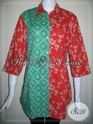 Trend Batik Wanita Dua Warna Trendy [BLS773C]