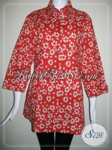 Blus Batik Model Masa Kini Untuk Wanita Karir [BLS775C-XL]