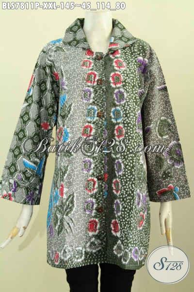 Contoh model atasan batik wanita muslimah