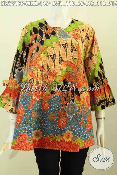 Model Baju Atasan Batik Wanita Modern 2019 - Toko Batik Online 2019 ... f6f6cd04c5
