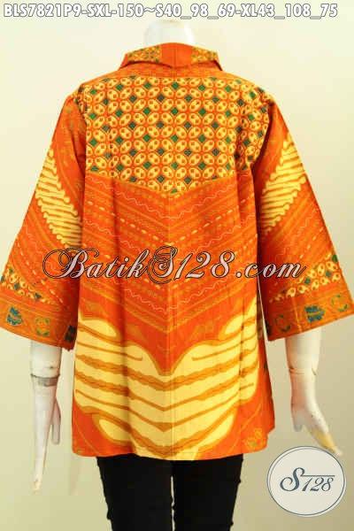 Jual Online Batik Blus Elegan Motif Klasik, Pakaian Istimewa Proses Printing Bikin Penampilan Lebih Mempesona, Size S – XL