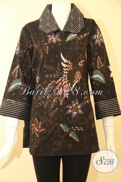Baju BAtik Wanita Pegawai Bank,Blus Batik Wanita Trendy [BLS786T-XL ...