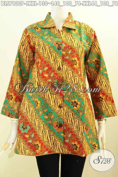 Model Baju Batik Atasan Lengan Panjang Modern Terbaru 2019 - Toko ... dc55884fc6