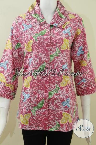 Batik Warna Pink Untuk Wanita Romantis  BLS798P-L  - Toko Batik ... 33cd6f6ec6
