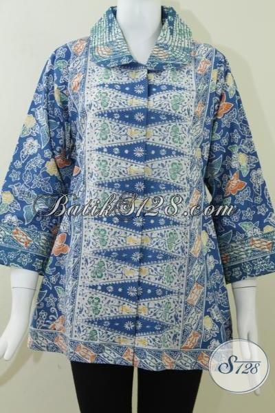 Baju Batik Kerja Wanita Ukuran Jumbo Bls805c Xxl Toko