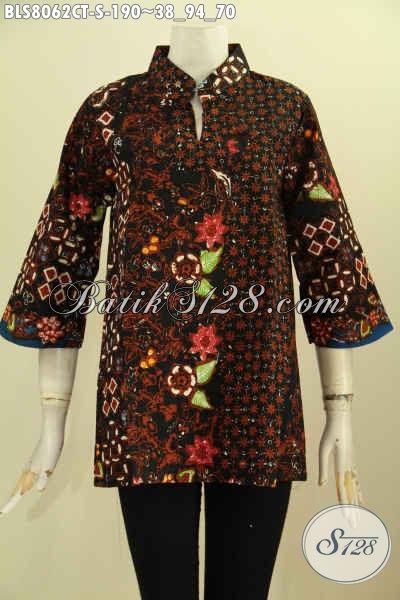 Model Baju Batik Blus Krah Shanghai Pakaian Batik Elegan Cocok