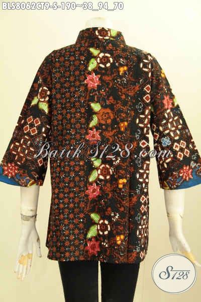 Model Baju Batik Wanita Krah Shanghai, Pakaian Batik Seragam Kerja Nan Berkelas, Penampilan Terlihat Istimewa, Size S
