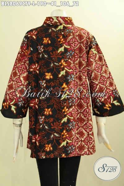 Model Baju Batik Wanita Masa Kini, Produk Baju Batik Solo Elegan Nan Berkelas Trend Mode 2017 Kwalitas Bagus Penampilan Makin Bergaya, Size L