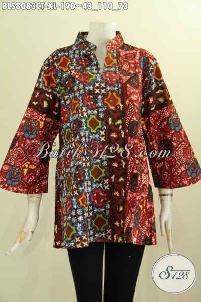 Model Baju Batik Perempuan Dewasa, Blus Krah Shanghai ...