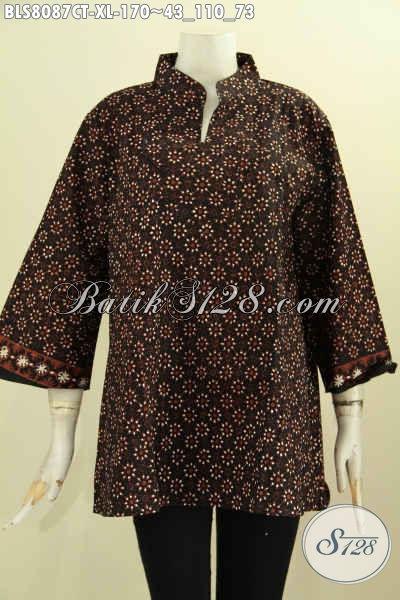 Model Baju Batik Cewek Untuk Penampilan Lebih Gaya Dan Mempesona, Blus Krah Shanghai Modis Dan Keren Hanya 170K, Size XL