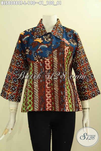Model Baju Batik Kerja Elegan Dan Berkelas, Produk Baju Batik Solo Terbaru Nan Istimewa, Asli Buatan Solo Dengan Harga Terjangkau, Size L
