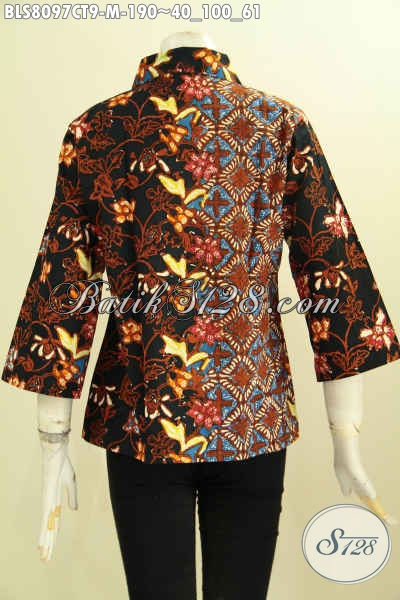 Model Baju Batik 2017, Blus Batik Wanita Nan Elegan Dan Modis, Pakaian Batik Solo Jawa Tengah Untuk Penampilan Mempesona, Size M