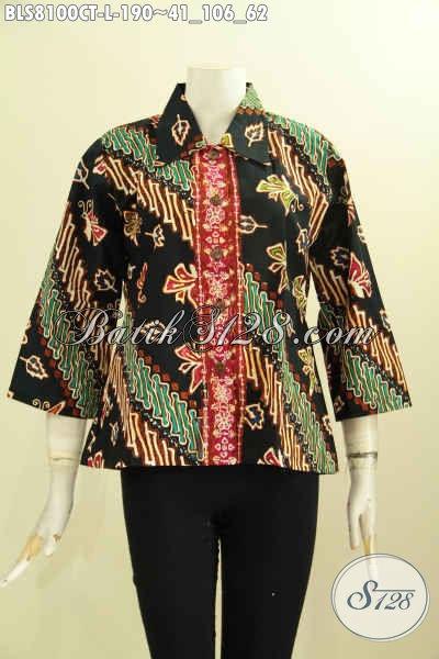 Model Baju Batik Atasan Wanita Kantor Modern Terbaru - Toko Batik ... b13e06540c
