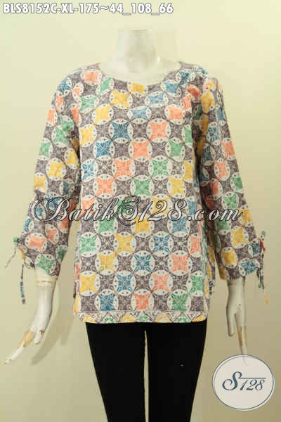 Model Baju Batik Solo Terbaru, Pakaian Batik Kerja Nan Modis Kwalitas Istimewa, Bikin Penampilan Mempesona, Size XL