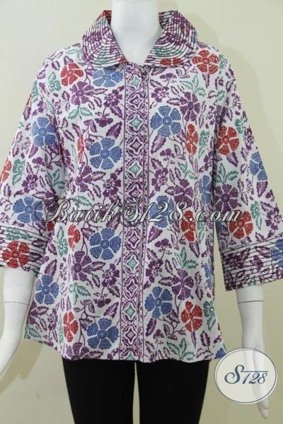 Jual Busana Batik Mewah Elegan Untuk Wanita Bahan Bagus Jahitan