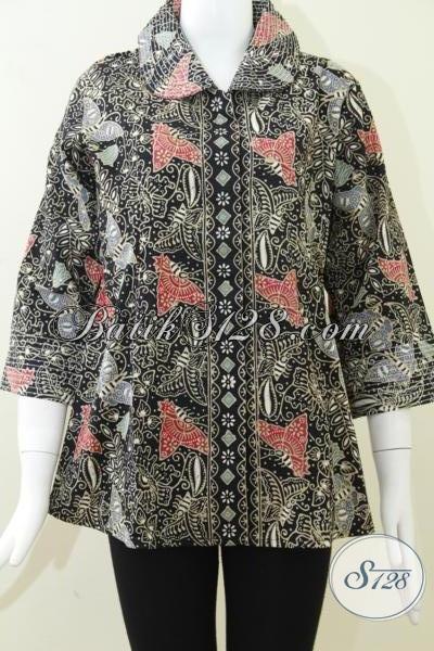 Trend BAtik Cap Kombinasi Tulis,Motif Batik Warna Hitam Elegan Untuk Baju BAtik Wanita Modern [BLS816CT]