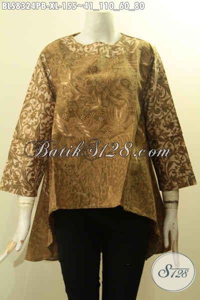 Pusat Baju Batik Solo Istimewa Masa Kini, Produk Pakaian Batik Jawa Tengah Nan Berkelas Proses Printing Cabut Model Kekinian, Kesukaan Wanita Karir Harha 100 Ribuan Saja, Size XL