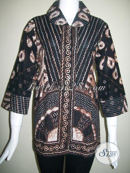 Baju Batik Tulis Wanita Modern Tahun 2014 [BLS833T-L]