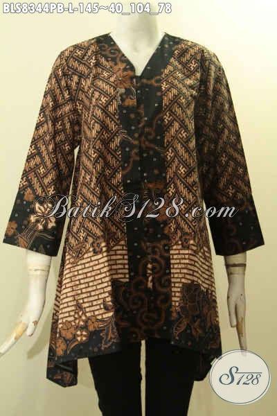Model Baju Bati Kartini Wanita Ukuran L, Blus Batik Pakai Kancing Depan Bahan Adem Nyaman Untuk Kerja Penampilan Terlihat Cantik Mempesona