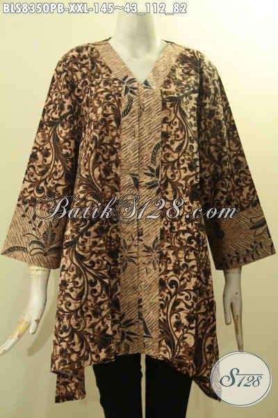 Model Baju Batik Blus Kartini Dengan Kancing Depan Busana Batik