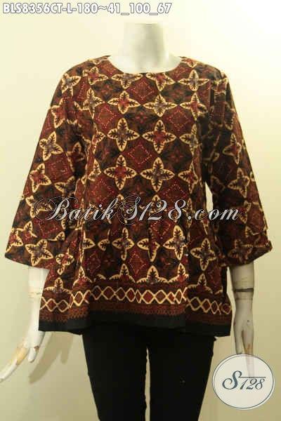 Model Baju Batik Kerja Atasan Wanita Hadir Dengan Desain
