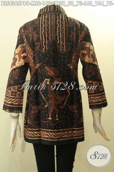 Baju Batik Solo Motif Wayang Srikandi, Busana Batik Elegan Berkrah Bahan Adem Proses Printing Hanya 140K, Size M – L