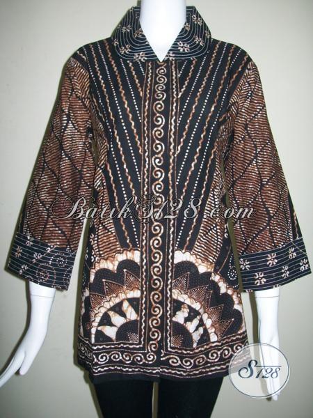 Butik Aneka Motif Dan Model Batik Tulis Untuk Wanita Karir [BLS839T-XXL]
