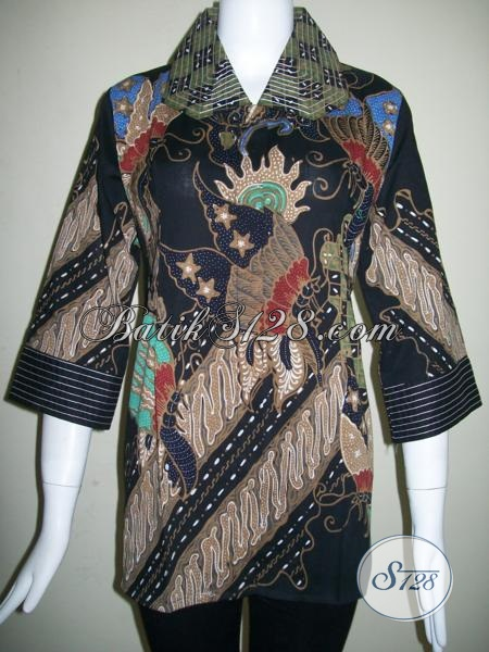 Model Baju Batik Wanita Karir,Trend Batik Tulis Tahun 2014 [BLS843T-M]