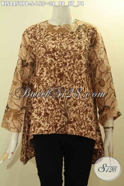 Model Baju Batik Wanita Atasan Terbaru Blouse Kancing Belakang