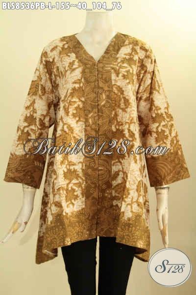Sedia Baju Batik Wanita Untuk Acara Resmi, Hadir Dengan Model Kartini Di Lengkapi Kancing Depan Bahan Halus Kwalitas Istimewa Harga 155K, Size L