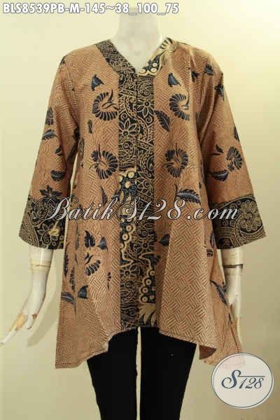 Model Baju Batik Blouse Kartini Kwalitas Bagus Bahan Adem Proses Printing Di Lengkapi Kancing Depan Harga 145K, Size M
