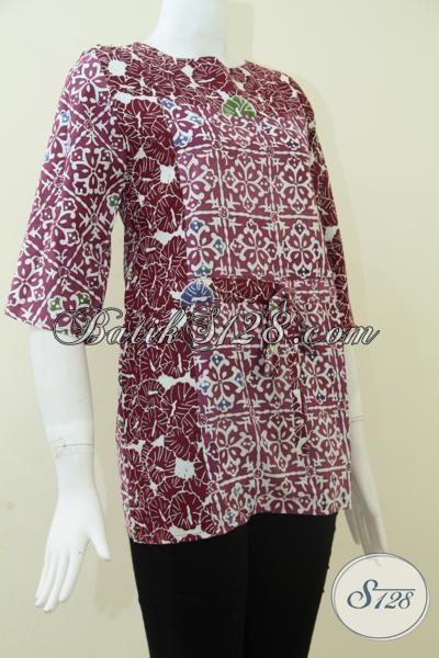 Blus Atasan BAtik Wanita Model Dua Warna,Model Baju Wanita BAtik Bertali Depan [BLS857C]