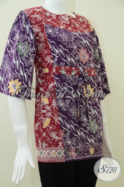 Toko Batik Online Terkenal, Sedia Busana Batik Wanita Modern Untuk Tampil Feminim Dan Cantik, Size M
