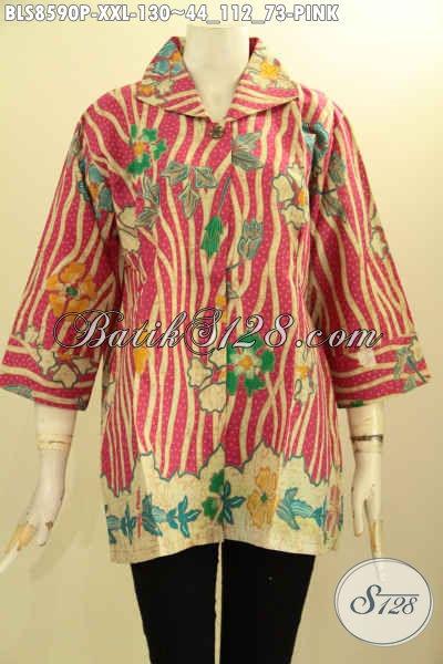 Pusat Baju Batik Solo Terlengkap, Sedia Baju Batik Solo Jawa Tengah Kancing Depan Dengan Lengan 7/8 Serta Berkrah, Cocok Untuk Acara Resmi