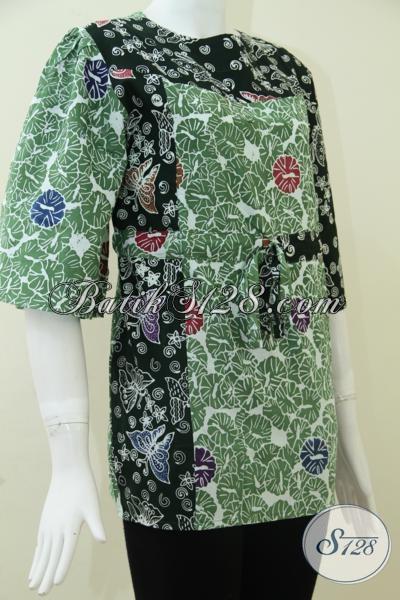 Baju Batik Wanita Warna Hijau Model Busana Batik Wanita