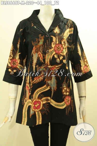 Sedia Pakaian Batik Modern Kerah Langsung, Busana Batik Modis Kekinian Motif Trendy Proses Tulis, Bikin Penampilan Lebih Gaya Dan Istimewa