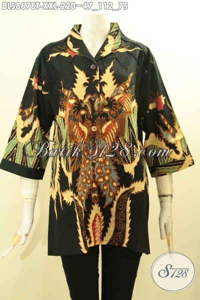 Pusat Baju Batik Solo Jawa Tengah Pilihan Lengkap, Sedia Produk Pakaian Batik Solo Untuk Wanita Gemuk XXL, Hadir Dengan Kerah Langsung Bahan Adem Motif Bagus Proses Tulis Hanya 220K