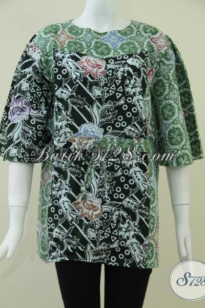 Baju BAtik Wanita Fashionable,Blus Batik Wanita Feminin Dan Fun [BLS867C-L]