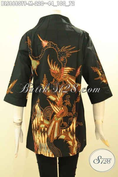 Busana Batik Wanita Kerja Kekinian, Blouse Batik Modis Dan ELegan Motif Bagus Proses Tulis, Membuat Penampilan Cantik Dan Anggun