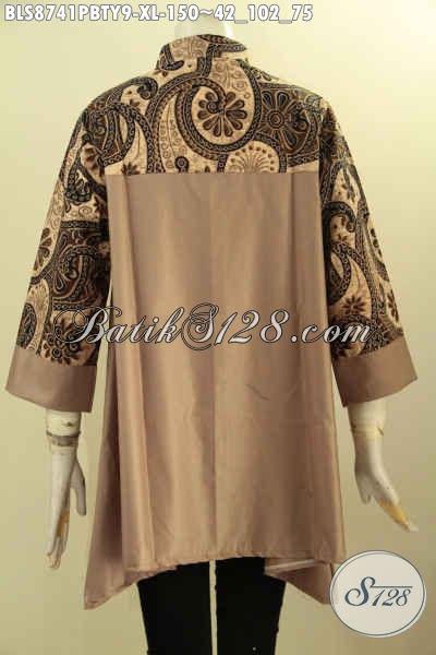 Sedia Baju Batik Kerja Wanita Dewasa, Blouose Batik Elegan Desain Trendy Motif Berkelas Berpadu Kain Polos Toyobo Terlihat Mewah Dan Istimewa