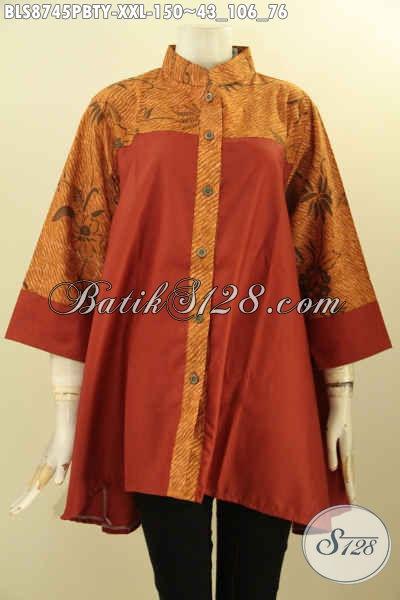 Model Baju Batik Blouse Modern Big Size Pakaian Batik Solo Asli