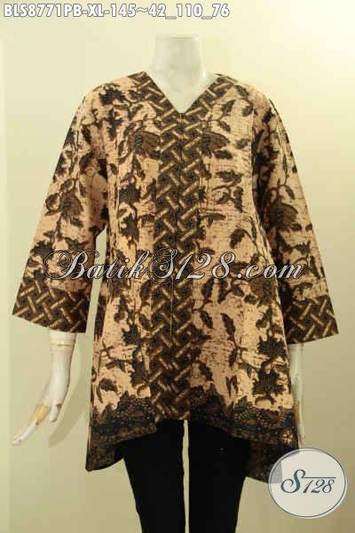 Juragan Batik Solo Online Terlengkap, Sedia Blouse Batik Kutubaru Lengan 7/8 Kwalitas Istimewa, Pas Untuk Acara Resmi