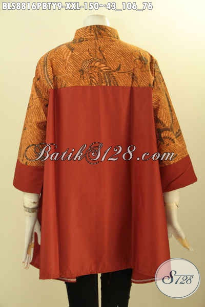 Batik Blouse Solo Wanita Masa Kini, Busana Modis Paduan Batik Dan Kain Polos Toyobo Kwalitas Istimewa Untuk Penampilan Nan Lebih Sempurna