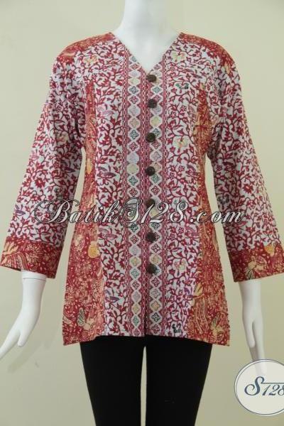Baju Batik Wanita Khas Pejabat RI, Busana Batik Modern Tampil Cantik Dan Anggun, Size M