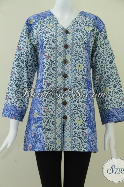 Baju Batik Untuk Wanita Gemuk Yang Trendy Bls895cd Xl