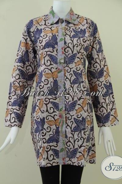 Trend Batik Wanita Lengan Panjang,Model Modern 2014 [BLS903P-L]