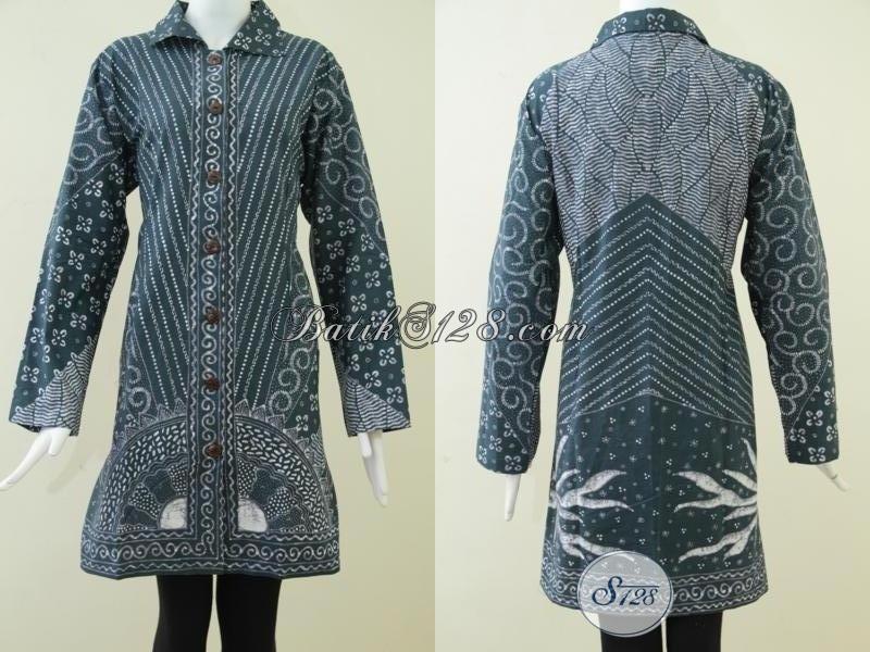 Baju Batik Tulis Istimewa Perempuan Karir, Blus Batik Bagus Halus Mahal, Size Jumbo XXL
