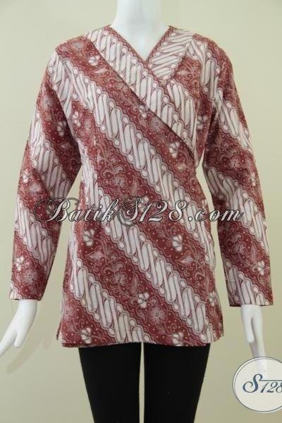 Pusat Busana Batik Wanita Harga Terjangkau, Jual Baju Batik Modern Model Kimono Motif Keren Bisa Untuk Kerja, Size S