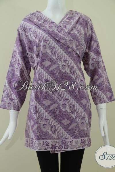 Baju Batik Wanita Model Kimono Lengan Tujuh Perdelapan,BAtik Wanita Modern [BLS929BT-XL]